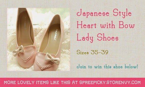 Japanese Style Heart with Bow Lady Shoes Worldwide Giveaway