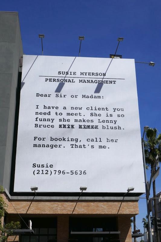 Susie Myerson Personal Management Mrs Maisel Emmy FYC billboard