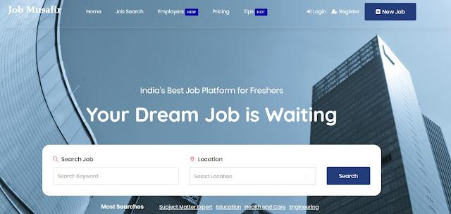 Website for Civil Engineering Jobs in India- Jobmusafir.com