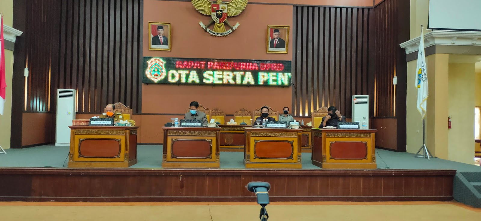 DPRD Tanjabtim Gelar Paripurna Via Video Teleconference