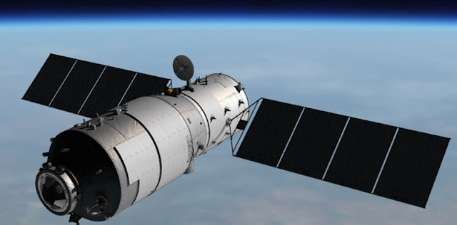 Artist's impression of the Tiangong-1 space laboratory in orbit. Image Credit: CMSA