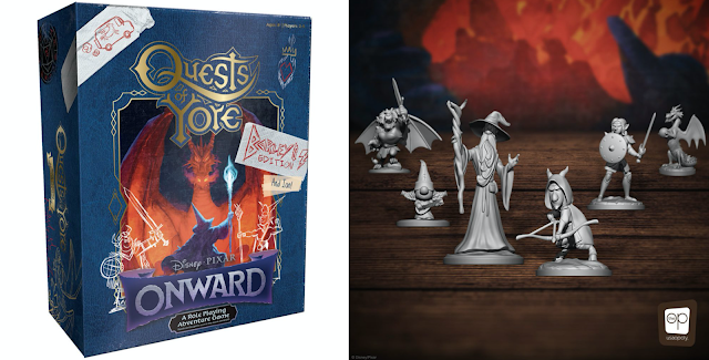 Quests of Yore Onward Game with pieces