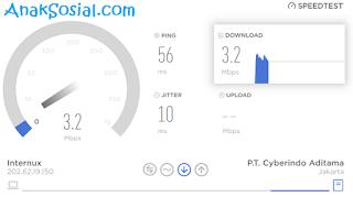 Proses Uji Kecepatan internet dengan Speedtest Custom