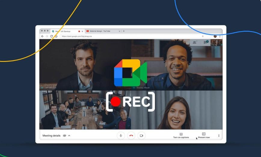 كيفية تسجيل الاجتماع في Google Meet؟