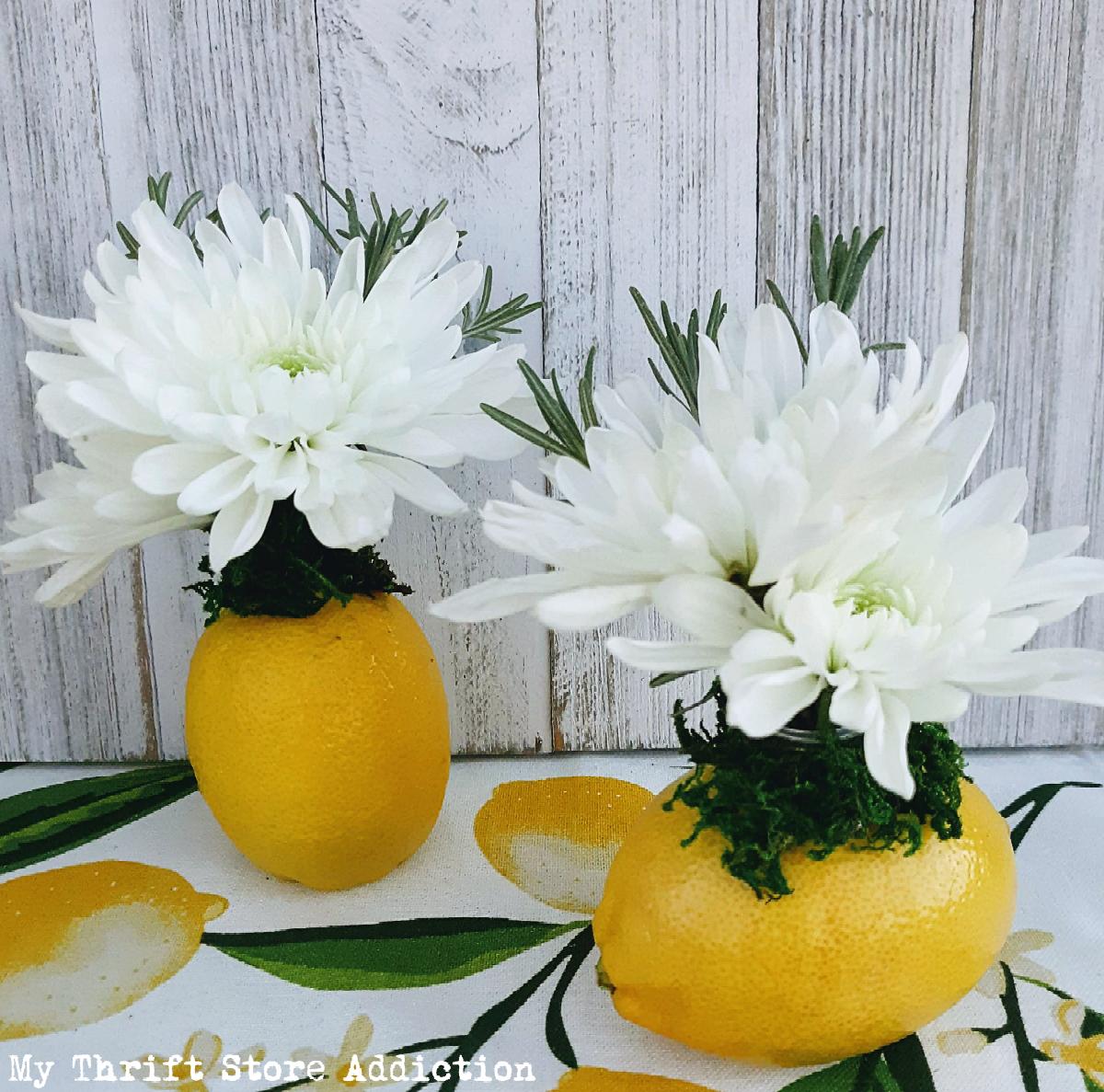 fresh citrus herb bouquets