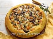 Фокача с гриловани зеленчуци и скаморца * Focaccia con verdure grigliate e scamorza