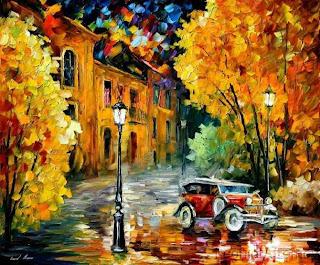 arte  de Leonid Afremov, pintura al oleo y  pintura creativa.