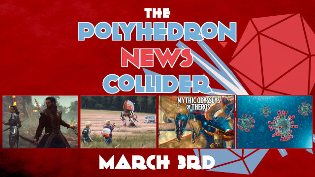 Board Game News Collider Mythic Odyssey of Theros DnD Sourcebook leaked revealedTales from the loop TV show trailer Baldurs GAte 3 trailer Plaid Hat Games goes independent.
