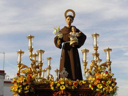 Horario e Itinerario Salida procesional de San Antonio de Padua de Torreblanca (Sevilla)