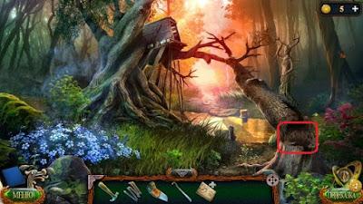 в расщелине упавшего дерева карта в игре затерянные земли 4 скиталец