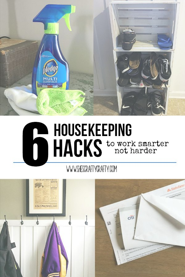 housekeeping hacks, easy things to do to make housekeeping easier