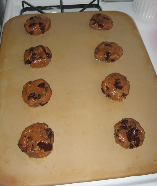 Butter-less Peanut Butter Chocolate Chip Cookies