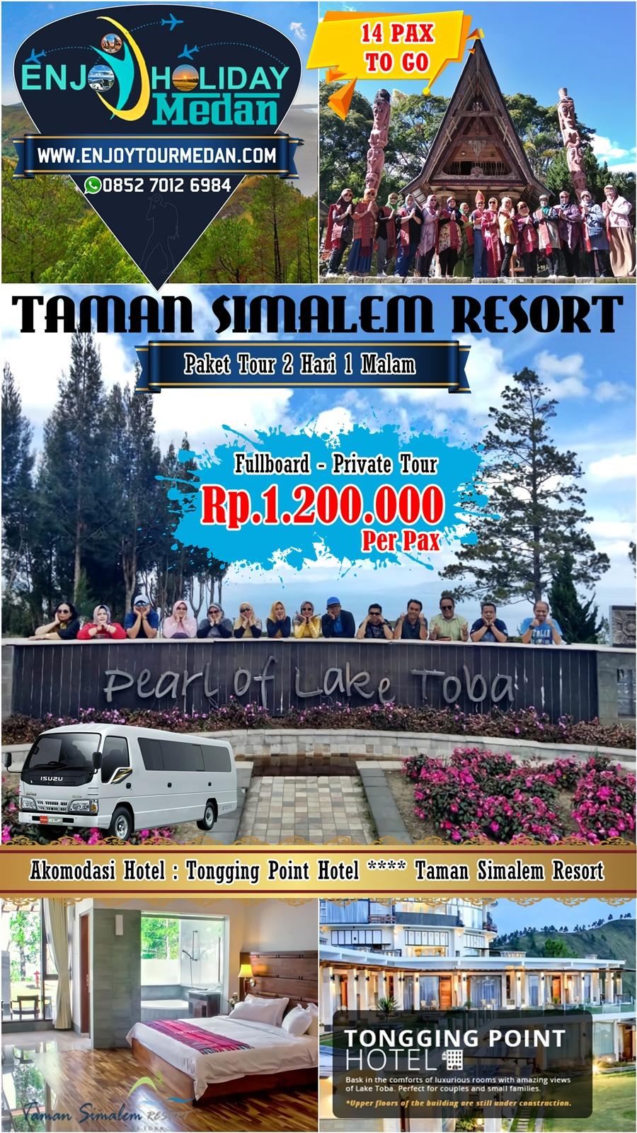 5H4M Paket Tour Medan Taman Simalem Resort