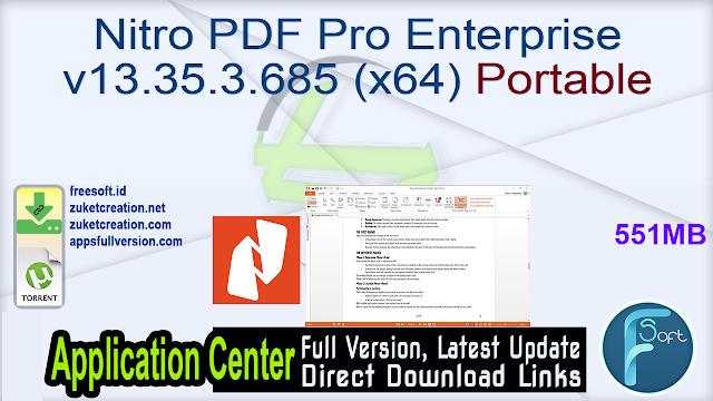 Nitro PDF Pro Enterprise v13.35.3.685 (x64) Portable