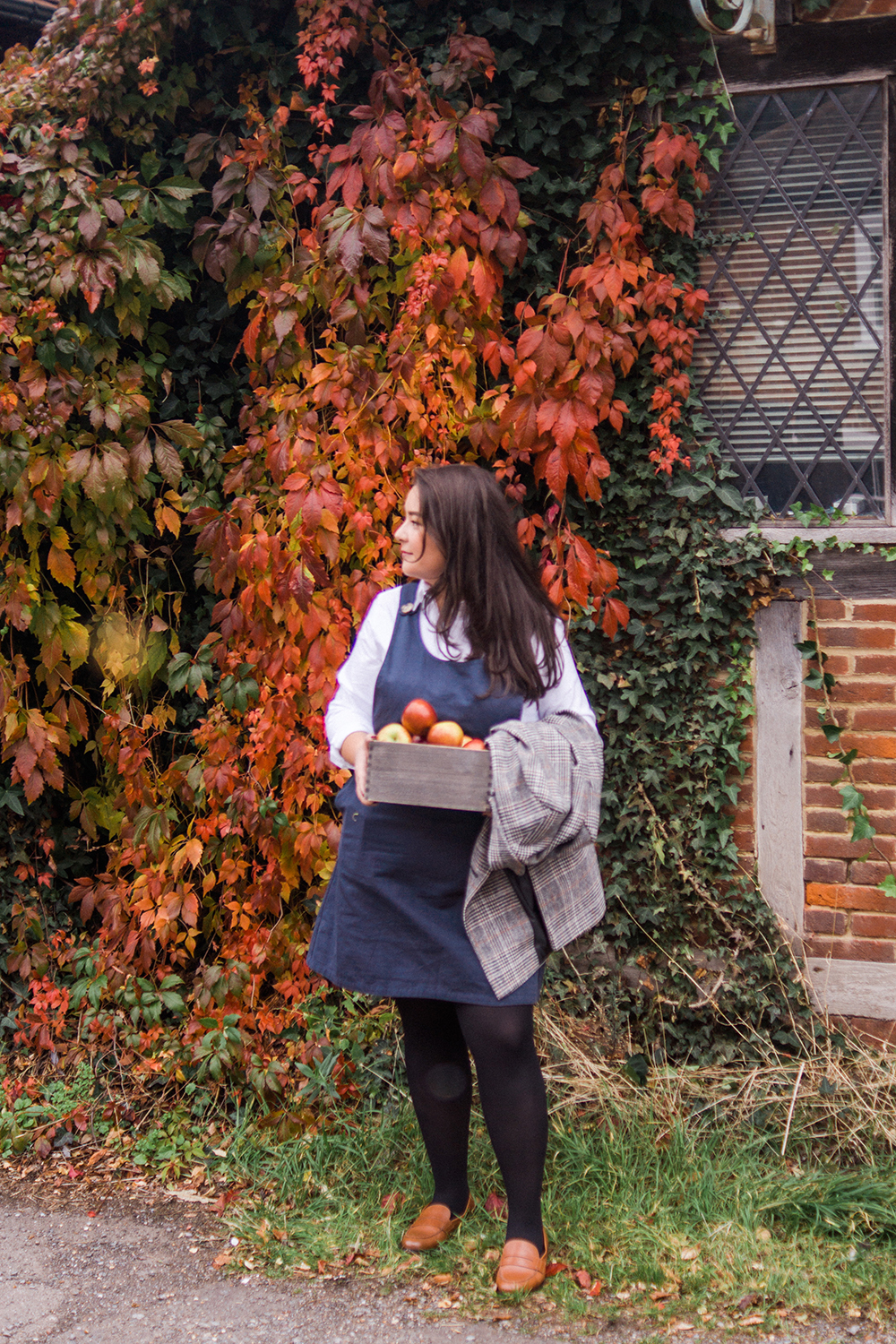 Joanie-pinafore-dress-tweed-jacket-autumn-ootd-Barely-There-Beauty-blog