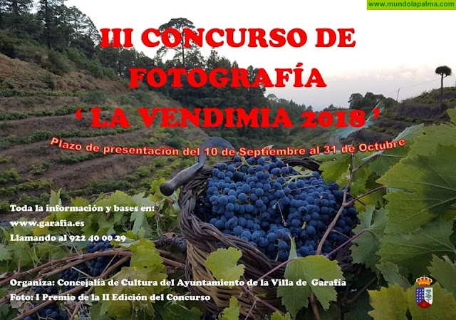 """III Concurso de Fotografía """"La Vendimia 2018"""" en Garafía"""