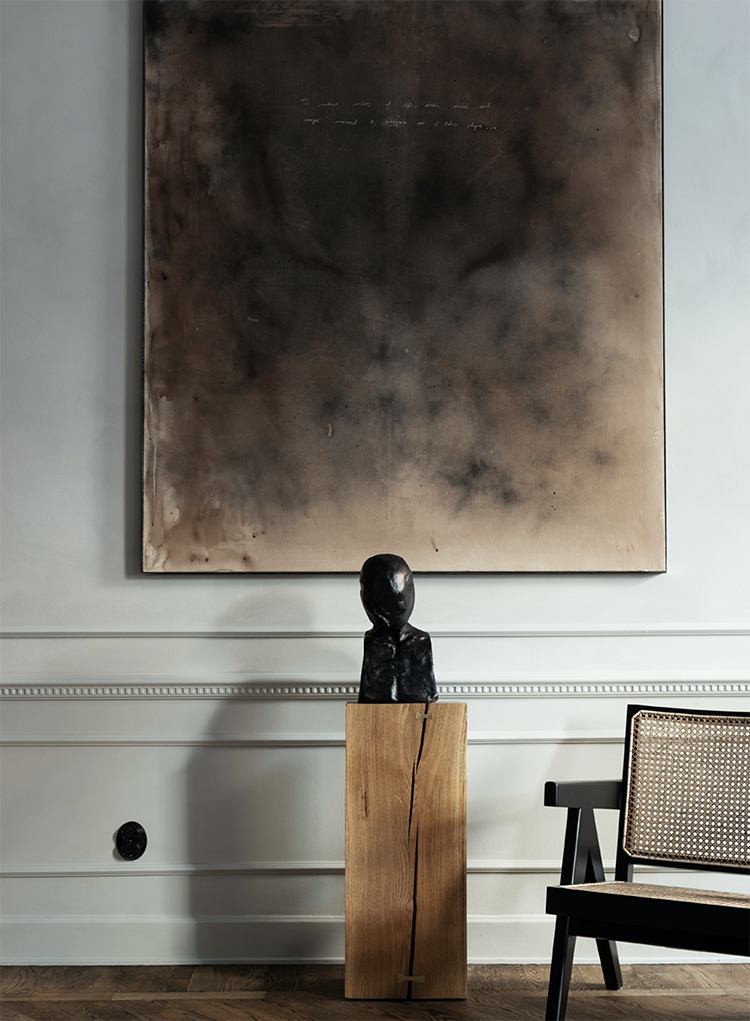 Sophisticated interiors with moody atmosphere and plush textures | Esny