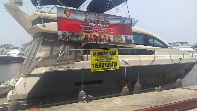 6 Penyelundup Sabu WN Malaysia Tertangkap Saat Menggunakan Kapal Pesiar Menujuh Ke Jakarta