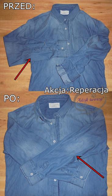 Akcja Reperacja u Adzika - skracanie rękawów w koszuli DIY