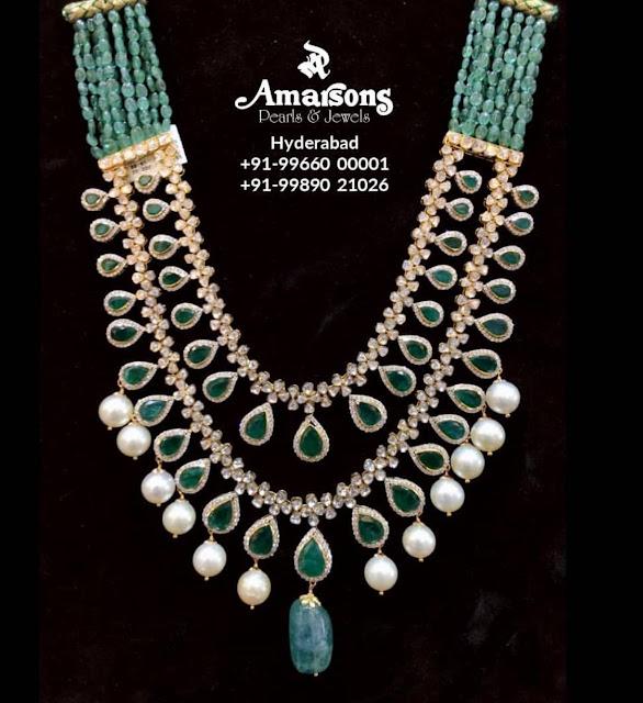 Diamond Emerald Long Chain