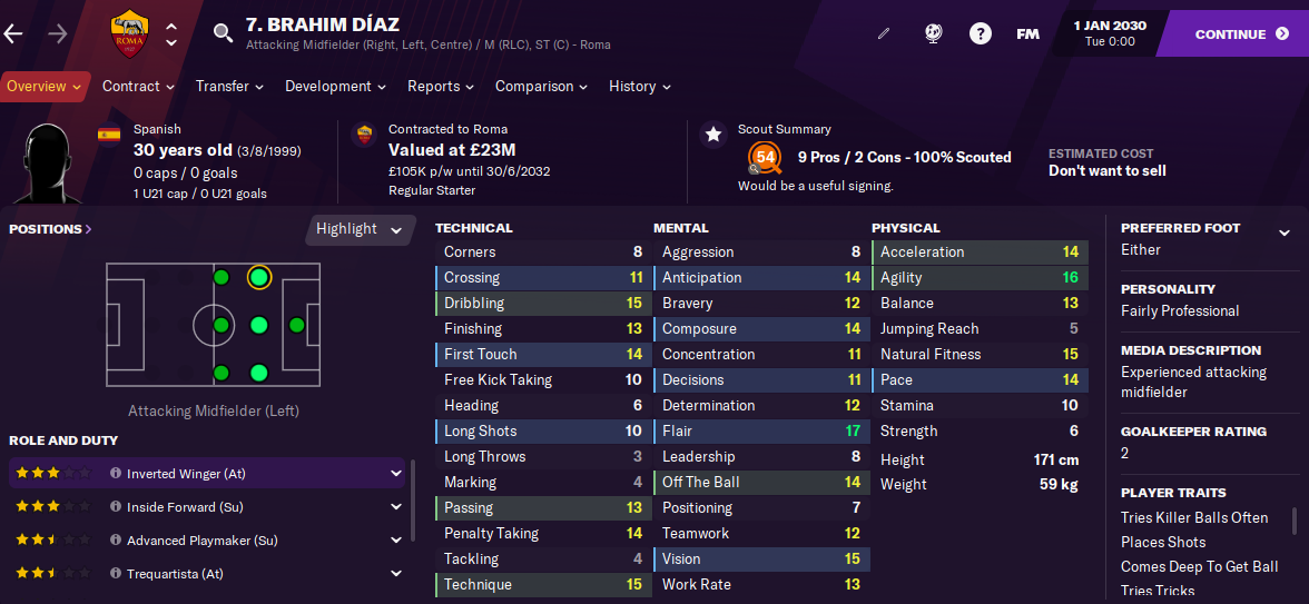 FM21 Brahim Diaz 2030