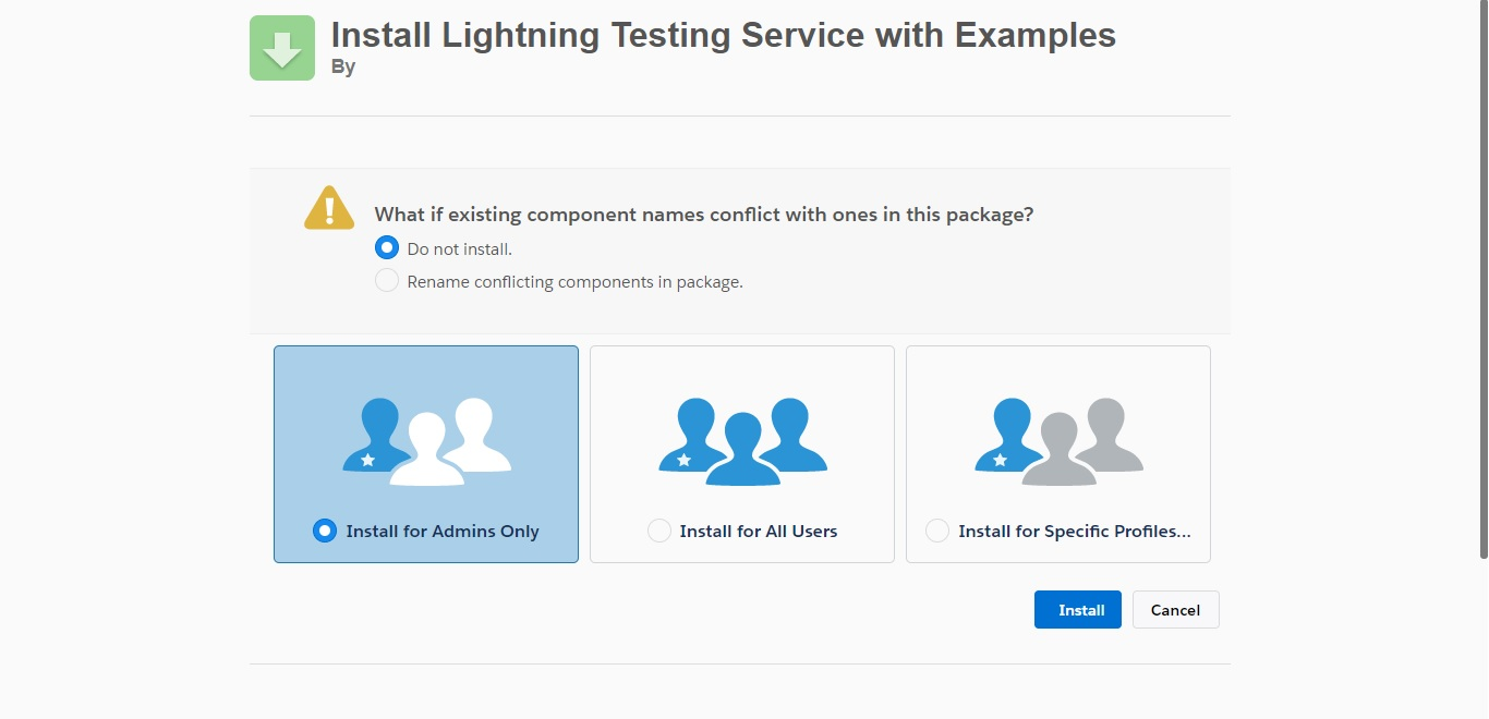 Test your lightning components using Lightning Testing Service