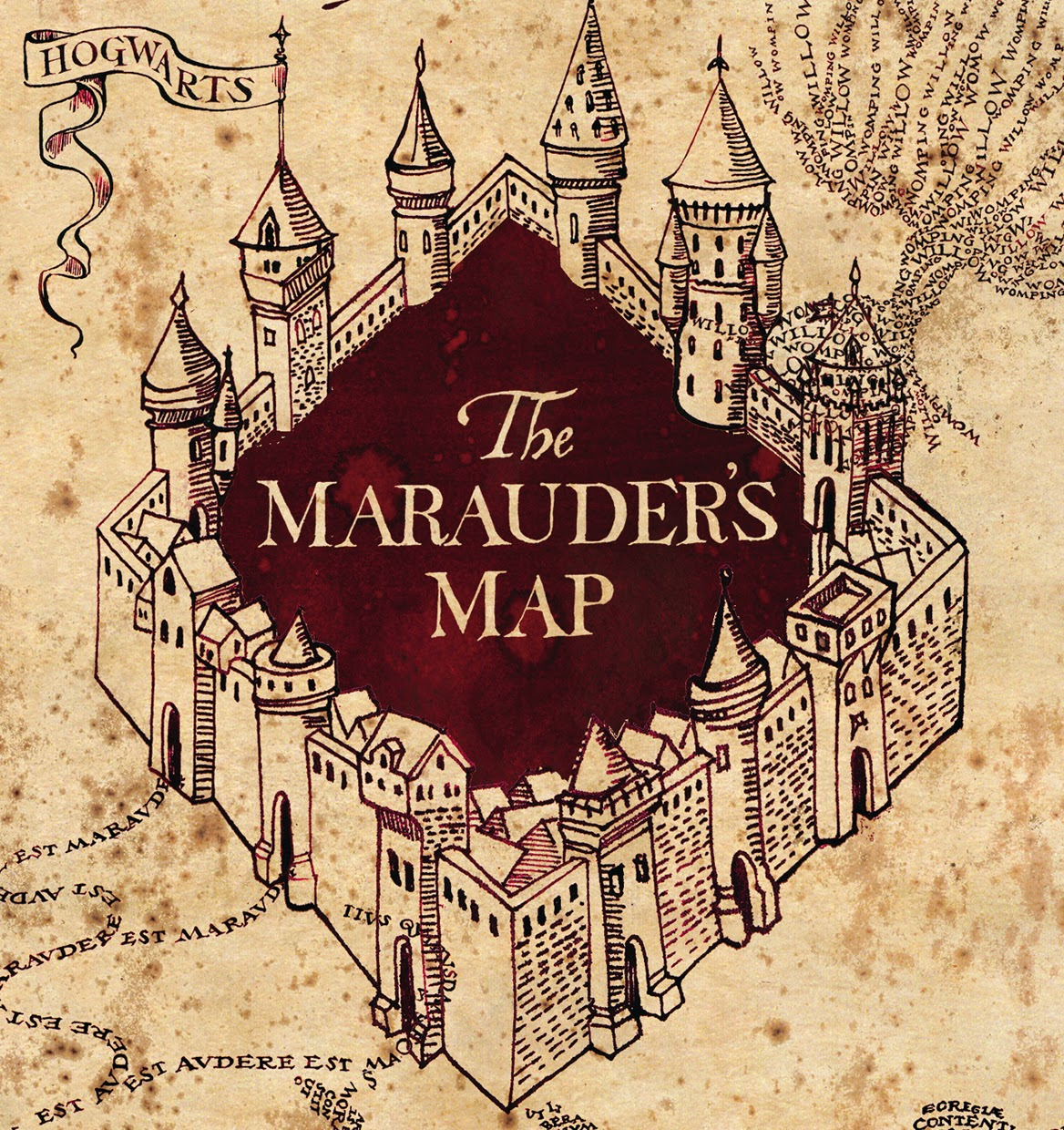 Wooden Marauders Map - Engraved into Wood, Harry Potter ... |Marauders Map Drawing