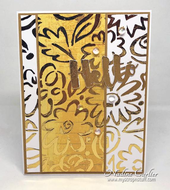 Nadine Carlier: Transfer Foil Techniques with StencilGirl® Stencils