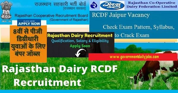 RCDF JAIPUR RECRUITMENT 2021- APPLY ONLINE FOR 503 PLANT OPERATOR JOBS Reopened