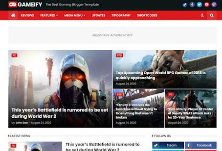 Gameify premium game blogger template | free download | techlyinformer