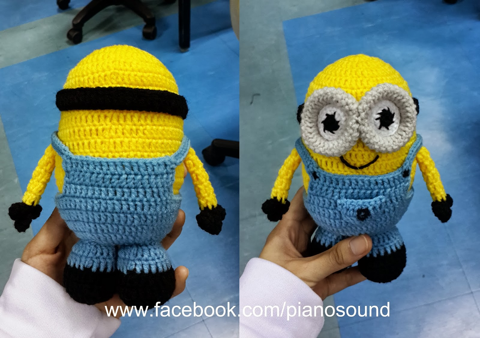 Amigurumipianosound crochet blog crochet minion free pattern do other people understand this pattern but finally there someone crochet the minion from my pattern and she send me back the picture bankloansurffo Images