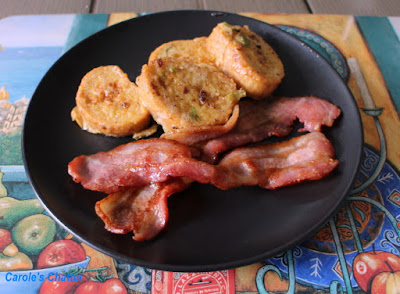 Carole's Chatter:  Slightly Spicy Eggy Bread with Bacon