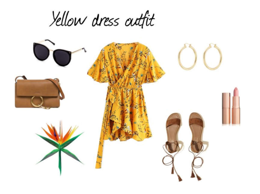 outfir de verano con vestido amarillo, yellow dress, summer outfit, moda