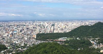札幌の大倉山から見た札幌の景色