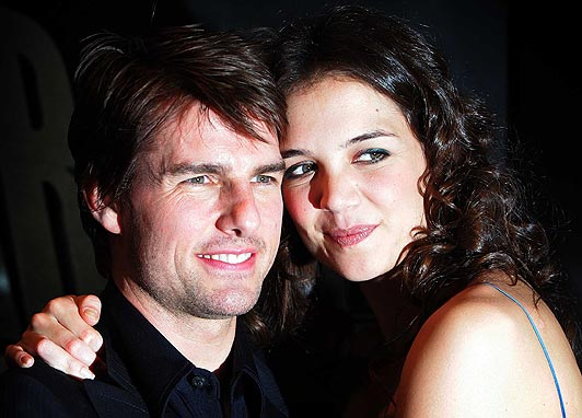Hollywood Stars: Tom Cruise With His Beautiful Wife Katie ...