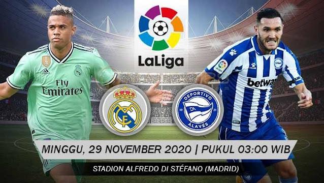 Prediksi Real Madrid Vs Deportivo Alaves, Minggu 29 November 2020 Pukul 03.00 WIB