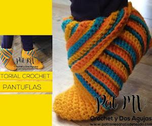 Cómo tejer pantuflas super fáciles a crochet   Tutorial en español