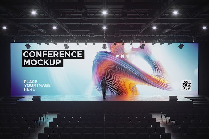 Conference Hall Screen Mockup