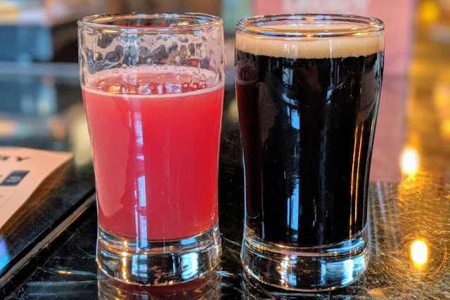 Buffalo Craft Beer: Raspberry sour and peanut butter imperial stout taster at Thin Man Brewery
