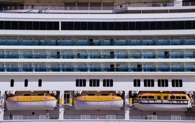 Lifeboats in cruise ship