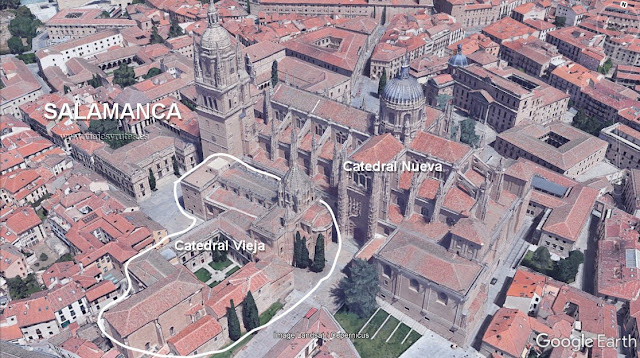 gogle earth de las catedrales de Salamanca