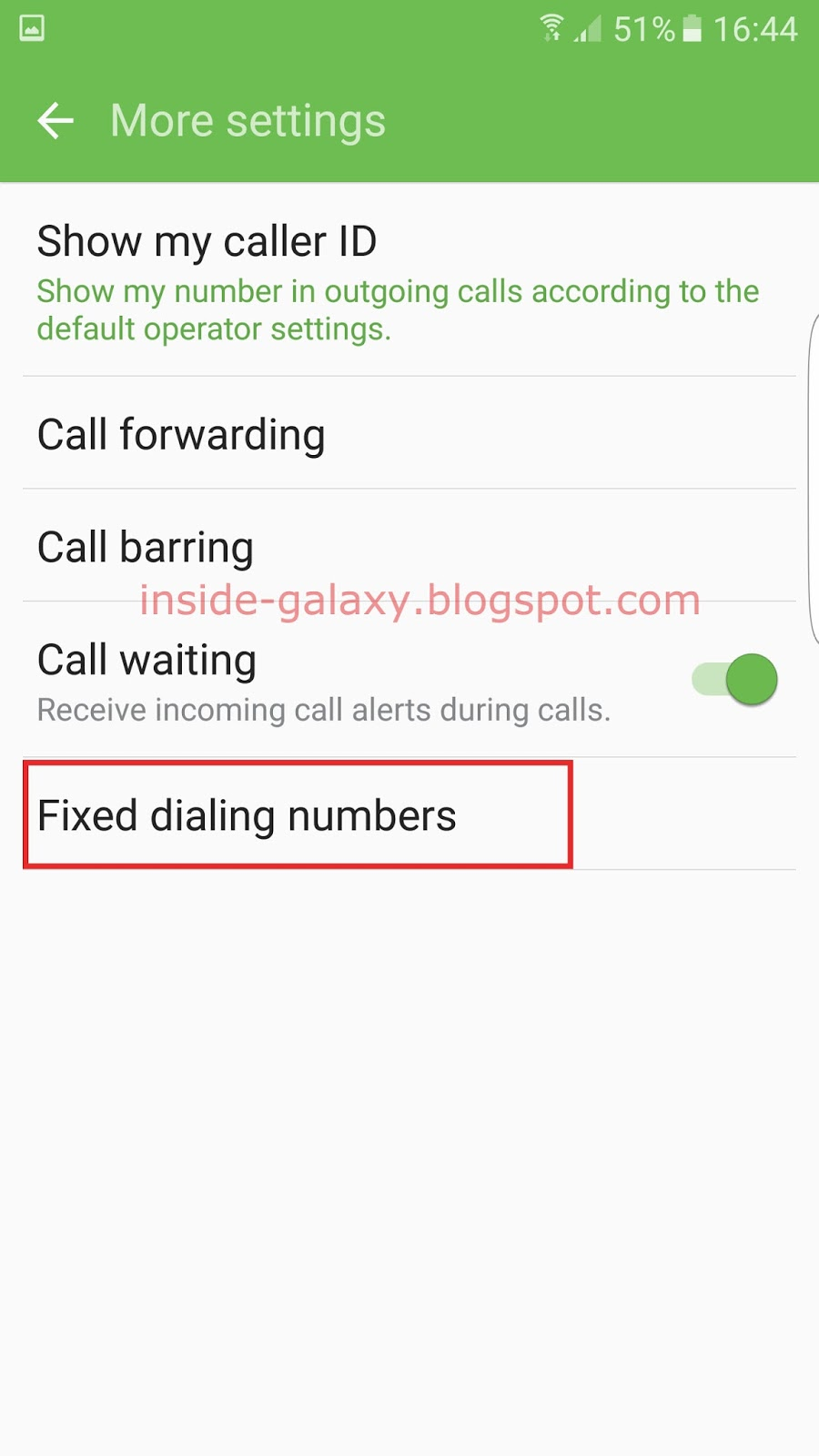 Samsung Galaxy S7 Edge How To Use Fixed Dialing Number