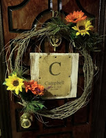 Faux grapevine wreath