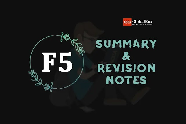 F5 (PM) | Summary + Revision Notes | Performance Management | ACCA