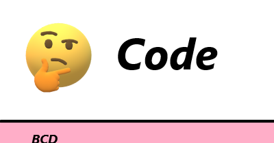 Code - Different thinking and invention