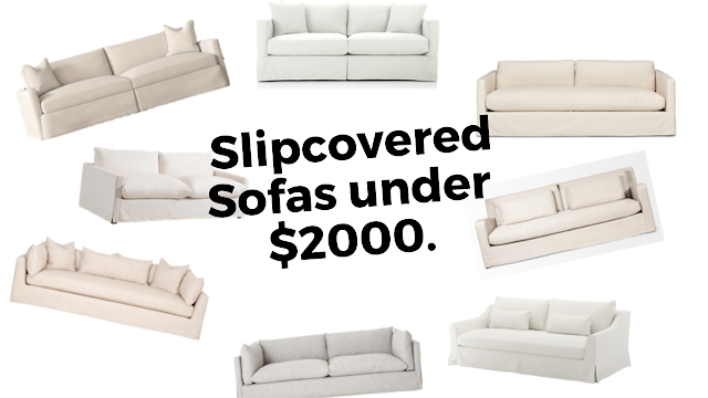 Gorgeous Slipcovered Sofas Under $2000