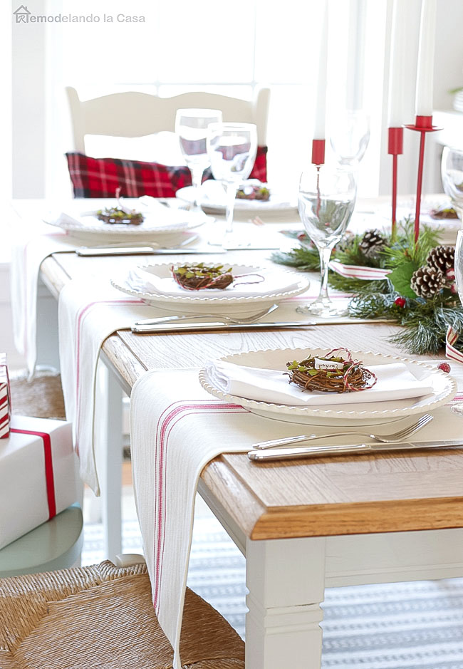 Target farmhouse table runner from dollar deals on wooden table