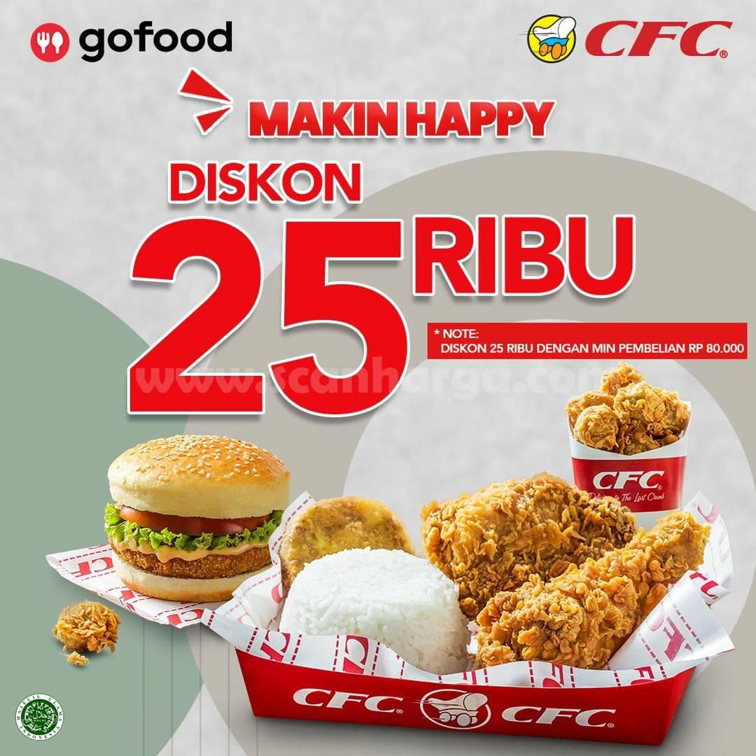 Promo CFC GOFOOD DISKON hingga 25 RIBU