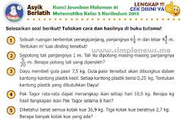 LENGKAP !!! Kunci Jawaban Asik Mencoba Halaman 41 Matematika Kelas 5 Kurikulum 2013