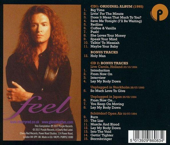 GLENN HUGHES - Feel [2CD Remastered & Expanded Edition] (2017) back